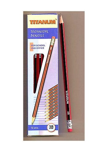 12 Ołówków Red & Black